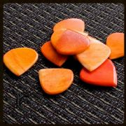 Jazzy Tones - Orange Bone - 1 Guitar Pick | Timber Tones